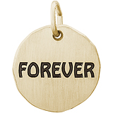 Gold Plate Forever Charm Tag by Rembrandt Charms