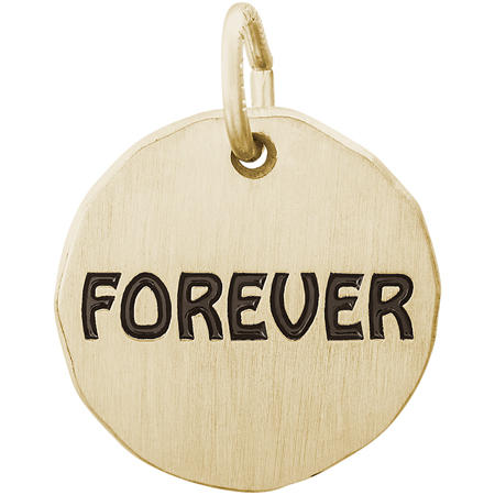 14K Gold Forever Charm Tag by Rembrandt Charms