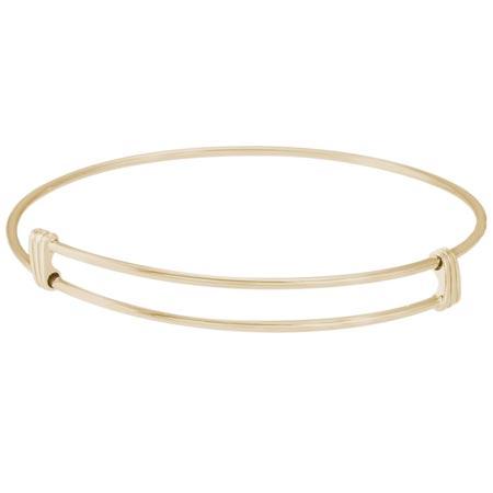 14k Gold Noble Bangle Bracelet by Rembrandt Charms