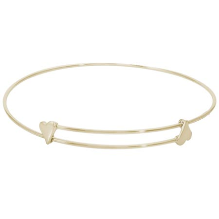 14k Gold Sweet Bangle Bracelet by Rembrandt Charms