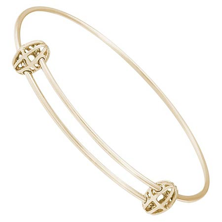 14k Gold Graceful Bangle Bracelet by Rembrandt Charms