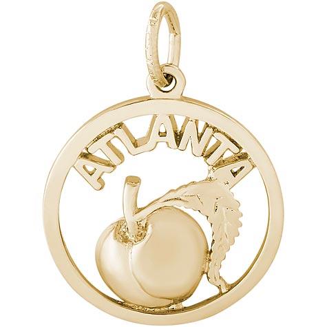 14K Gold Atlanta Peach Charm by Rembrandt Charms
