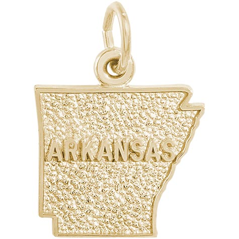 Gold Plated Arkansas Charm by Rembrandt Charms