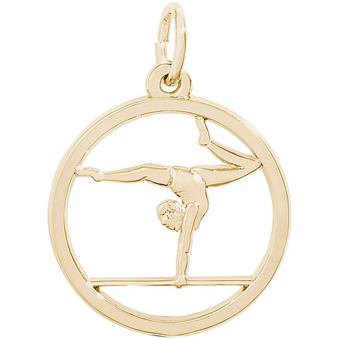 14K Gold Gymnast On Balance Beam Charm by Rembrandt Charms