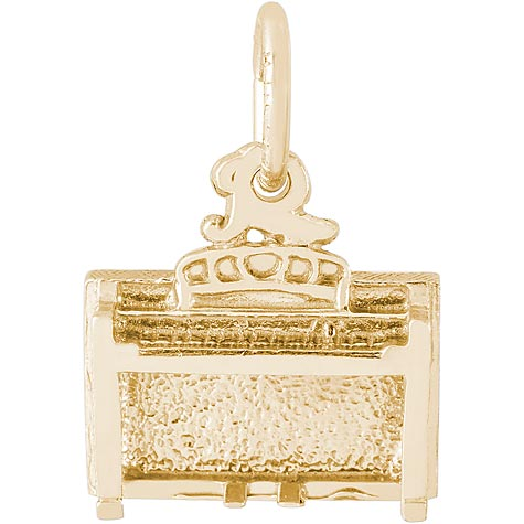 14K Gold Piano Spinet Upright Charm by Rembrandt Charms