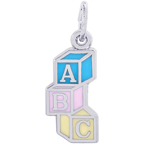 Sterling Silver ABC Block Charm by Rembrandt Charms