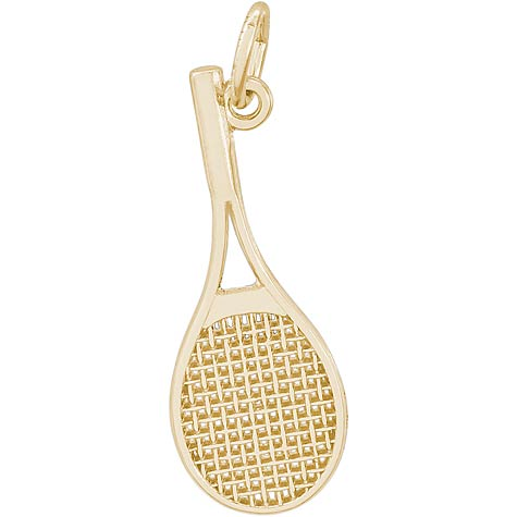 10K Gold Mid-Size Tennis Racquet Charm by Rembrandt Charms