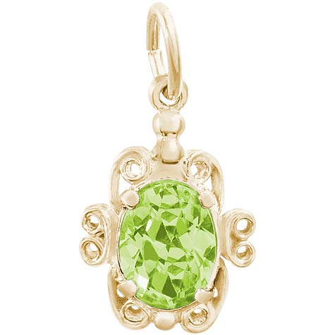 14K Gold 08 August Filigree Charm by Rembrandt Charms