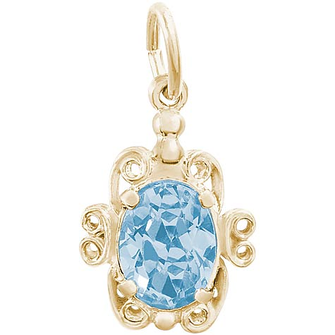 14K Gold 03 March Filigree Charm by Rembrandt Charms