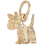 Gold Plate Scottie Dog Charm by Rembrandt Charms