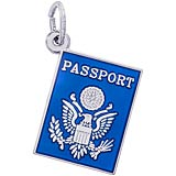 14K White Gold Passport Charm by Rembrandt Charms
