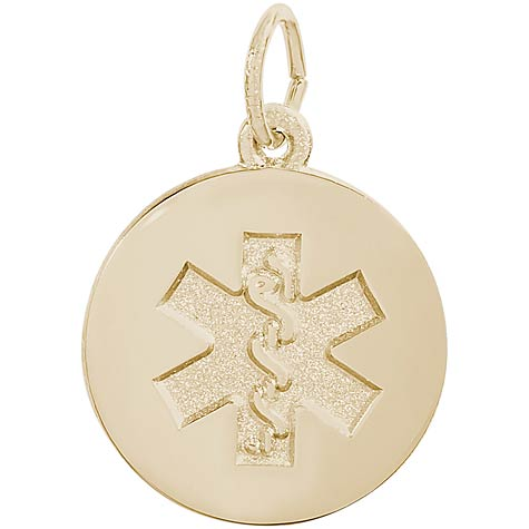 Gold Plated Medical Alert (plain) Charm by Rembrandt Charms