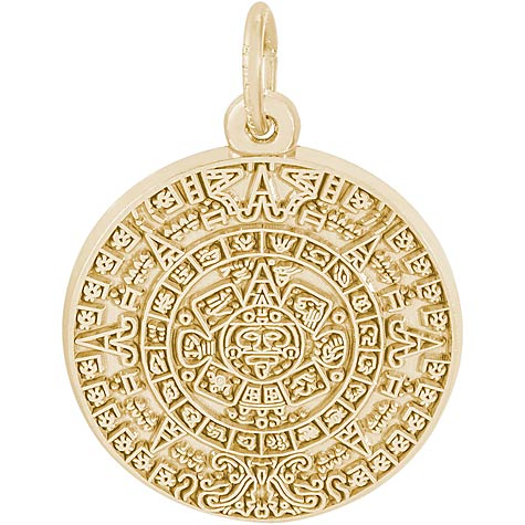 14K Gold Aztec Sun Charm by Rembrandt Charms