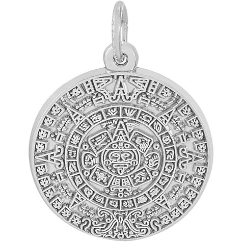 14K White Gold Aztec Sun Charm by Rembrandt Charms