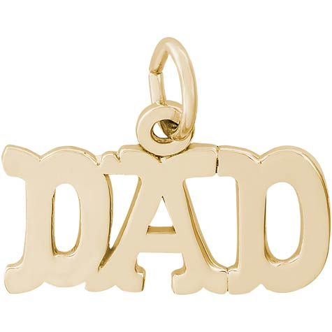 14K Gold Dad Charm by Rembrandt Charms