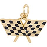 14k Gold Racing Flags Gold Charm by Rembrandt Charms