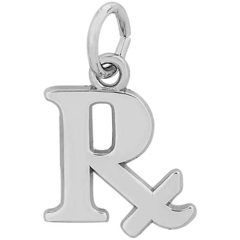 14K White Gold Pharmacy Charm by Rembrandt Charms