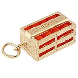 10K Gold California Oranges Charm by Rembrandt Charms