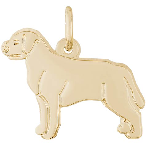 14k Gold Labrador Retriever Charm by Rembrandt Charms