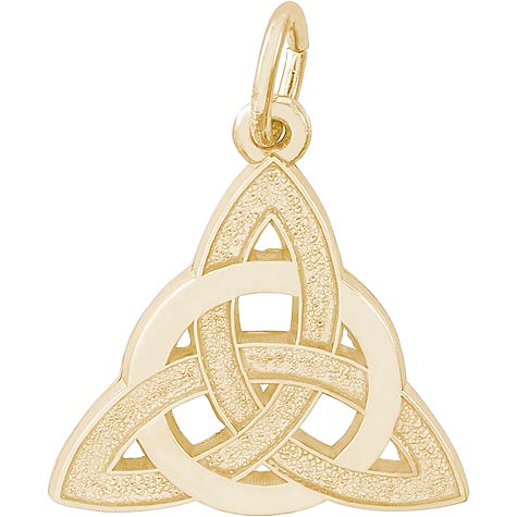 14K Gold Celtic Trinity Knot Charm by Rembrandt Charms