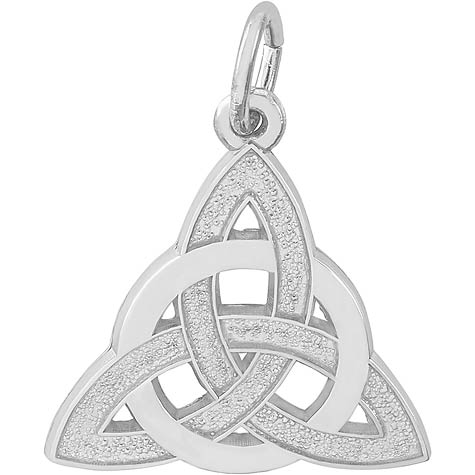 14K White Gold Celtic Trinity Knot Charm by Rembrandt Charms