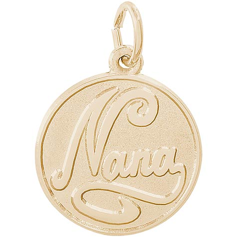 Gold Plated Nana Charm by Rembrandt Charms