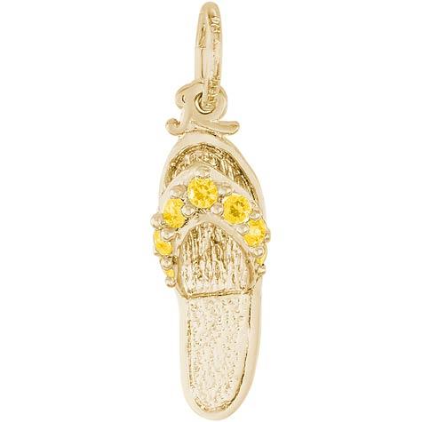 14K Gold Sandal Charm Nov Birthstone by Rembrandt Charms