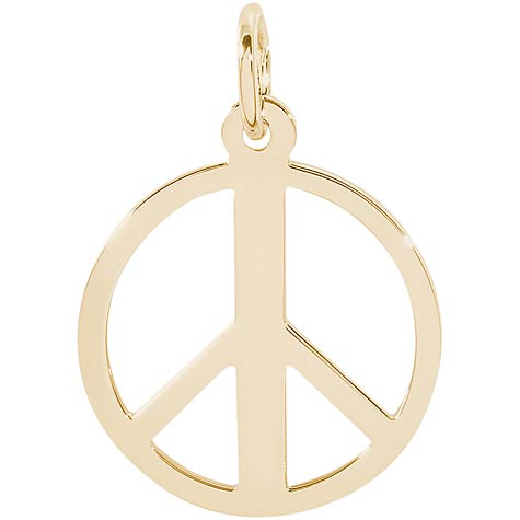 10K Gold Peace Symbol Charm by Rembrandt Charms