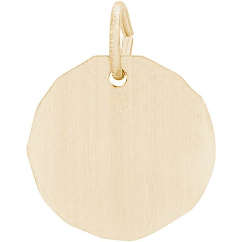 14K Gold Blank Charm Tag by Rembrandt Charms