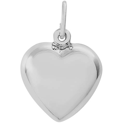 14K White Gold Heart Charm by Rembrandt Charms