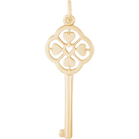 14K Gold Key To My Heart Charm by Rembrandt Charms