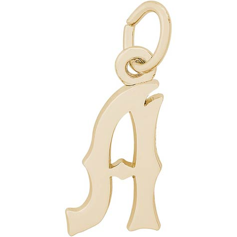 14K Gold Blackletter Initial A Charm by Rembrandt Charms