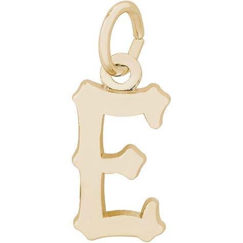 14K Gold Blackletter Initial E Charm by Rembrandt Charms