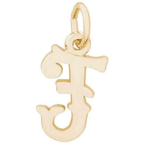 14K Gold Blackletter Initial F Charm by Rembrandt Charms