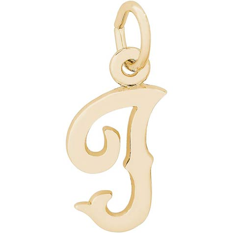 14K Gold Blackletter Initial I Charm by Rembrandt Charms
