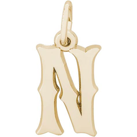 14K Gold Blackletter Initial N Charm by Rembrandt Charms