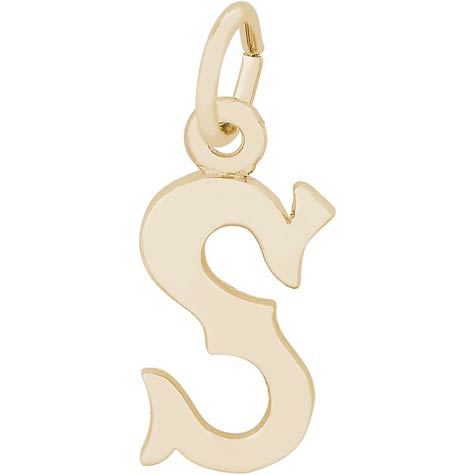 14K Gold Blackletter Initial S Charm by Rembrandt Charms