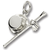 14K White Gold It's Showtime Charm by Rembrandt Charms
