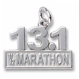 Sterling Silver 13.1 Marathon Charm by Rembrandt Charms
