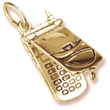 Gold Plated Cell Phone Charm flips open by Rembrandt Charms