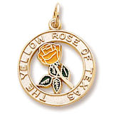 Gold Plated Yellow Rose of Texas by Rembrandt Charms