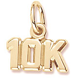 10K Gold 10K Race Accent Charm by Rembrandt Charms