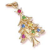 Rembrandt Christmas Tree Charm Gold Plated