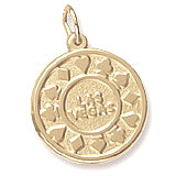 14K Gold Las Vegas Disc Charm by Rembrandt Charms