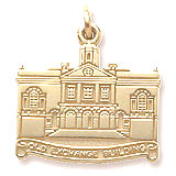 Gold Plated Old Exchange Building Charm by Rembrandt Charms
