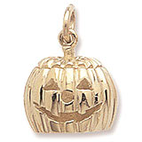 Gold Plate Jack O' Lantern Charm by Rembrandt Charms