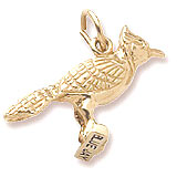 14k Gold Blue Jay Charm by Rembrandt Charms