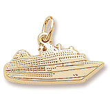 Engravable Cruise Ship Charm
