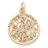Gold Plate Estes Park Faceted Charm by Rembrandt Charms