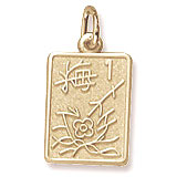 14K Gold Mahjong Tile Charm by Rembrandt Charms